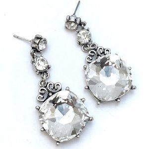 Crystal Square Drop Earrings